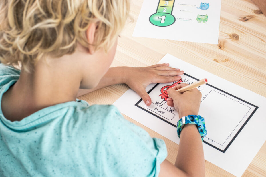 Voel je top Kindercoaching_kind tekent boze gevoelens